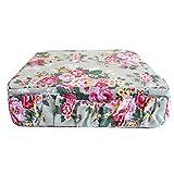 Minene 1750 Kinder Sitzkissen - Creme mit große Blumen, rosa