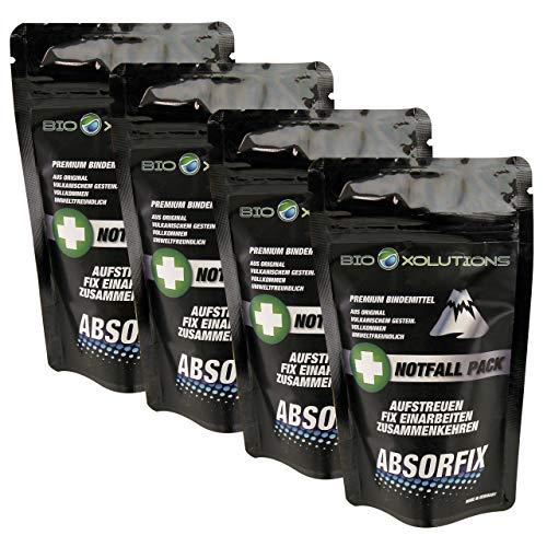 Absorfix Notfallpack fürs Auto | Geruchsentferner und natürliches Bindemittel für alle Flüssigkeiten | Absorbiert Erbrochenes, Urin, Öl, Benzin, Speisereste, Getränke, UVM. (4 x 25g) - Alle Natürlichen Tee