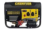 Champion WWCPG4000E1-EU 3500 Watt Benzin Generator Stromerzeuger 230V mit Elektrostart EU, W, 230 V, Gelb-Schwarz, 44,5 x 59 x 46 cm