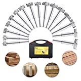 Baban 16pcs Brocas Forstner Set 15-35mm Broca fresadora Madera Hole Saw Acero al tungsteno Titanium recubierto