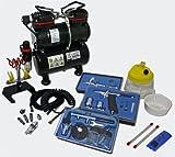 Profi Airbrush Kompressor Set AS196 mit 3 Airbrushpistolen und umfangreichem Zubehör