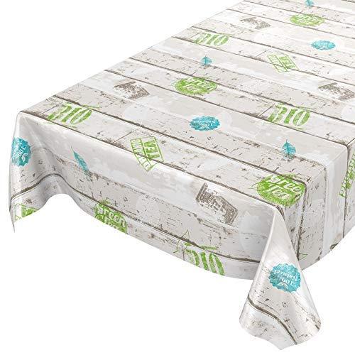 Tovaglia in tela cerata, lavabile, in stile industriale, plastificata, asciugamani, Sättige, Beständige Farben, 220 x 140cm
