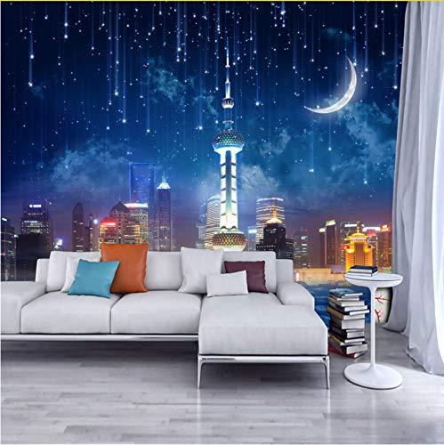 Zybnb Benutzerdefinierte 3D Fototapete Stadt Nacht Große Wandbilder Tapeten Wohnkultur Wohnzimmer Schlafzimmer Wandverkleidung Malerei Tapete