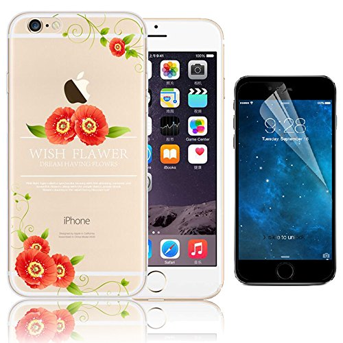 iPhone 7 TPU Custodia, Bonice iPhone 7 Cover (4.7 pollice),Bonice Colorato Morbido TPU Silicone Rubber Clear Trasparente Ultra Thin Back Creativo Case - Christmas Party 01 model 2