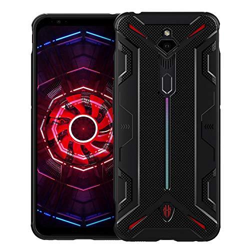 CRESEE Red Magic 3 Hülle Case, Schutzhülle Soft Silikon Cover Bumper Stoßfest Handyhülle Fall für ZTE Nubia Red Magic 3 (Schwarz)