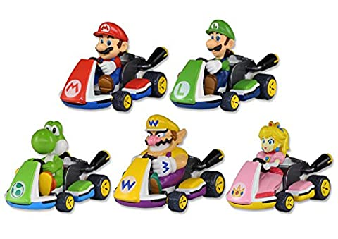TOMY Pocket Money Toys Mario Kart Eight Pull Back Racers-Single Piece(Color may vary)