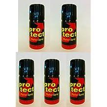 5 Stück Pfefferspray Protect (JET) Weitstrahl extra stark - 40ml