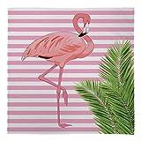 Groß Warm Decke Fleece Überwurf Flamingo Design Streifen Bett Stuhl Auto Sofa - rosa & weiß, L