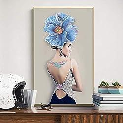 jzxjzx Pintura Decorativa sin Marco Pinturas abstractas Porche Fondo decoración de la Pared Pintura Sala de Estar murales 5 60 * 80 cm