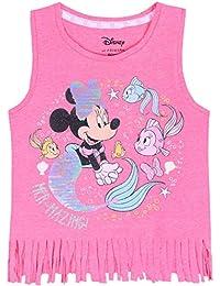 Blusa de Color Rosa con Flecos Mickey Minnie Disney