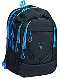SARA 30 Liters Polyester Black School Bag