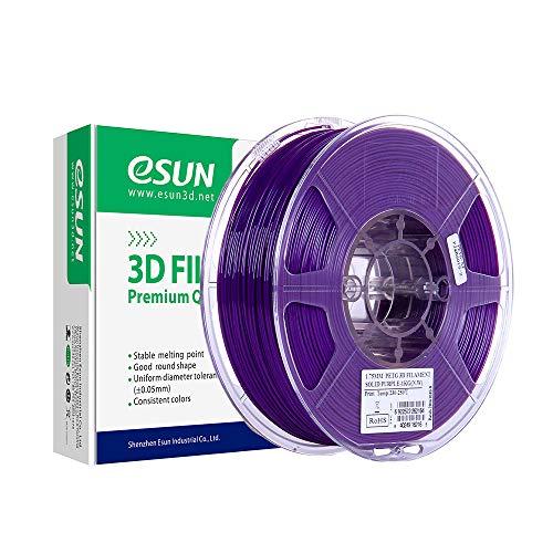 eSUN Filamento PETG per Stampante 3D, Filamento PETG 1.75mm, Precisione Dimensionale +/- 0.05mm, Bobina da 1KG (2.2 LBS) Filamento per Stampanti 3D, Viola Solido
