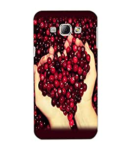 SAMSUNG GALAXY A8 BERRIES Back Cover by PRINTSWAG