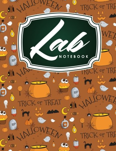 tebook Blank Pages, Organic Chemistry Lab Notebook, Lab Notebook Grid, Chemistry Lab Notebook, Cute Halloween Cover (Lab Notebooks, Band 23) ()