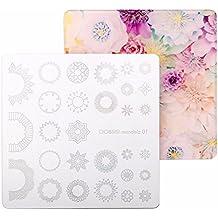 CiCi y Sisi Nail Art Stamping Image Placas placa Mandala Kit Manicura Plantilla