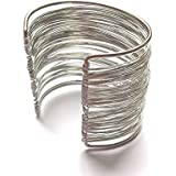 Fashion By Jamie - High Quality Silver Plated Cuff Bracelet - Ideal For A Fantastic Gift