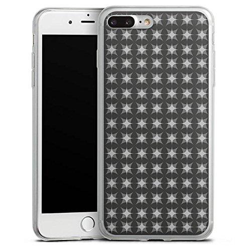 Apple iPhone 8 Slim Case Silikon Hülle Schutzhülle Muster Schwarz Grau Geometrisch Silikon Slim Case transparent