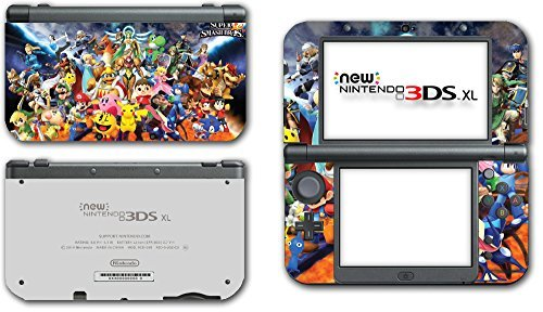Super Smash Bros Melee Brawl Mario Pikachu Yoshi Mega Man Zelda Sonic Metroid Fire Emblem Video Game Vinyl Decal Skin Sticker Cover for the New Nintendo 3DS XL LL 2015 System Console by Vinyl Skin Designs