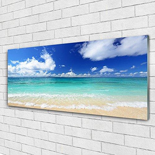 Impression sous verre de Tulup 125x50 cm - Tableau - Image - Photo panoramique - Paysage Mer