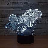 Generic 3D Nachtlicht Nachtlicht 3D Nachtlicht Nachtlampe Racing Car Touch Dry Battery Mehrzweckgeschenk Baby