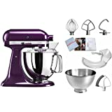 KitchenAid 5 ksm175psepb, Artisan – Robot de cocina con equipamiento profesional, color morado