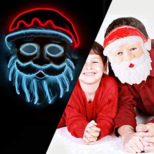 LUXACURY Maskerade Party Cool Mask Weihnachtskostüm Dekor Weihnachtsfeier liefert Party Maske LED EL Draht leuchten Maske für Festival Weihnachtsfeiern Halloween Makeup Party Dekoration