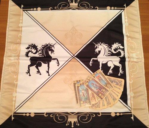 Wicca Altar Taro Cloth místico unicornio