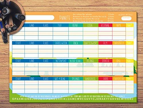 Stadt-Land-Fluss-Block-DIN-A4-mit-50-Seiten-STADT-LAND-SPA-Gesellschaftsspiel-fr-Kinder-und-Erwachsene-Das-kreative-Quizspiel-als-coole-Geschenkidee-von-Sophies-Kartenwelt