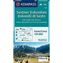 Sextner Dolomiten - Dolomiti di Sesto: Wanderkarte mit Radtouren. GPS-genau. 1:25000 (KOMPASS-Wanderkarten, Band 625)