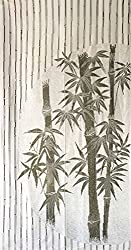 Chinese Green Good Luck Bamboo Pattern Green Japanese Noren Curtain & Doorway Curtain
