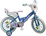 16 Zoll Kinderfahrrad Mädchenfahrrad Kinder Fahrrad Rad Disney Elsa Frozen die Eiskönigin Toimsa