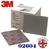 3M 2604feines Schleifmittel broschierte Ausgabe Schleifschwamm (5Stück) Grade Serie 320# 400#