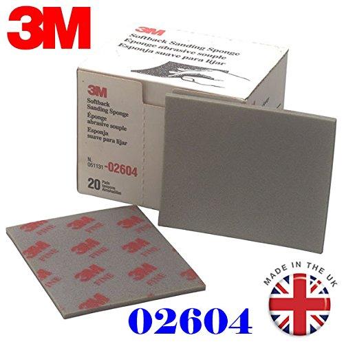 3M 2604feines Schleifmittel broschierte Ausgabe Schleifschwamm (20Stück/Stück) Grade Serie 320# 400# -