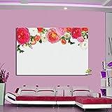 Rétro Romantique Rose Affiche Peinture Hd Impression Sur Toile Photographie Fond Pop...