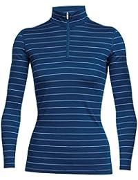 Icebreaker Oasis Sous vêtement thermique manches longues 1/2 zip Femme