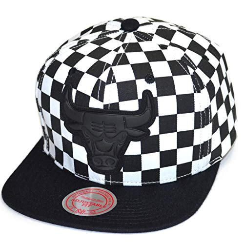 Mitchell & Ness Snapback Cap Checked Crown Chicago Bulls Black/White