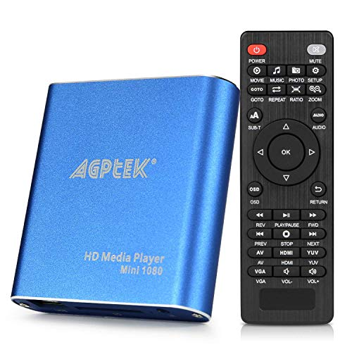 MKV Media Player, AGPtek Azul Mini Full HD 1080p Digital