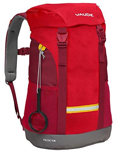 VAUDE Pecki 14 - Macuto de senderismo color energetic red, talla 14L