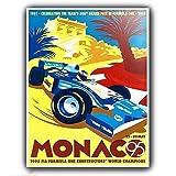Forry Monaco Grand Prix Metall Poster Retro Blechschilder