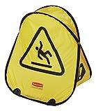 Rubbermaid - Cono pieghevole, di sicurezza, per pavimenti bagnati, giallo