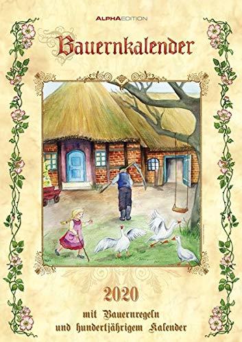 Bauernkalender 2020 - Bildkalender A3 (30 x 42) - mit Bauernregeln und 100-jährigem Kalender - Wandkalender -
