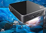 4K UHD Projector GT918,Deeirao Android5.1 DLP Home Theater Projector Mini Portable Build in Wifi 1280*800 Native Resolution Quad Core 2d Convert to 3d Bluray 3d Usb Hdmi Bluetooth4.0 LED Lamp Black