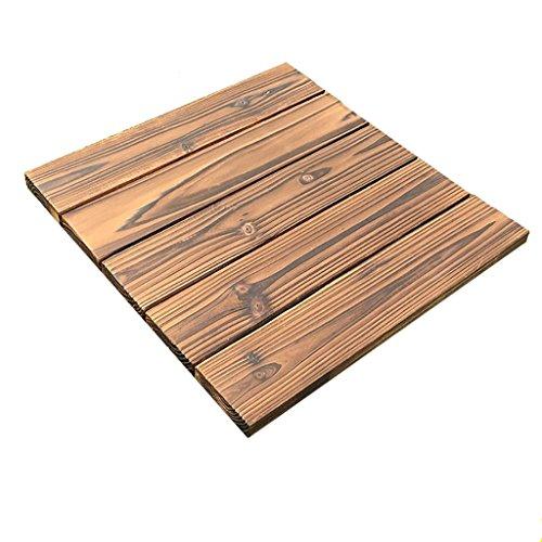 Floor GY Terrassen- & Balkonfliesen Holzboden, Outdoor-Massivholz Anti-Korrosions-Boden, Balkon Badezimmer Umwelt Mosaikboden Größe: 29 * 29 * 2,5 cm -