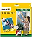 Schellenberg 50720 Fliegengitter Reflection, reflektierender Insektenschutz, 130 x 150 cm anthrazit