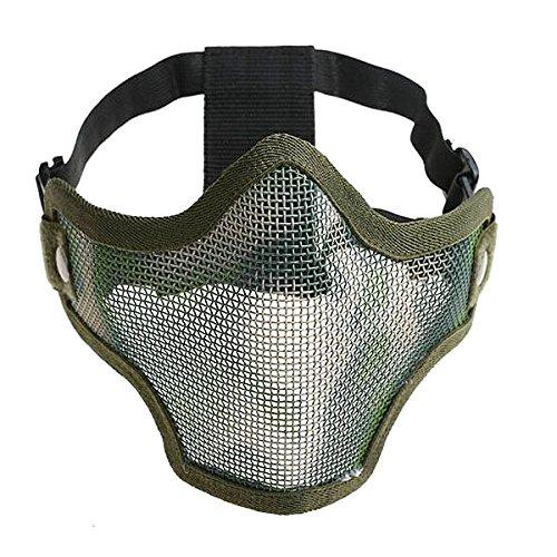 Pixnor Mezza maschera protettiva in maschera viso con fascia in