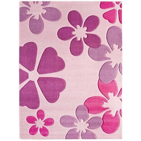 Luxor Living 1100097 Brest 6127 - Alfombra (120 x 170cm), color rosa claro