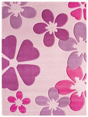 Luxor Living 1100095 Brest 6127 - Alfombra (60 x 115cm), color rosa
