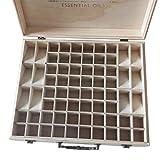 Fannty Aufbewahrungsbox aus Holz mit ätherischen Ölen und Griff, 68-Fach für 5-15 ml ätherische Öle
