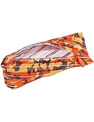 Wedo 2425165906Trousse Scolaire Camouflage en polyester fermeture éclair, 22x 2x 9cm, orange
