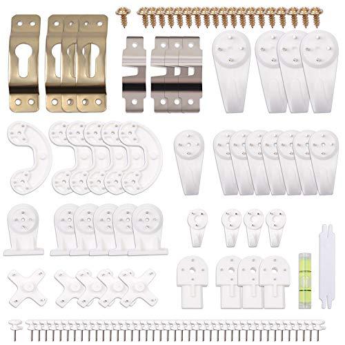 EZAKKA Set de 106pcs Ganchos de Pared Plásticos